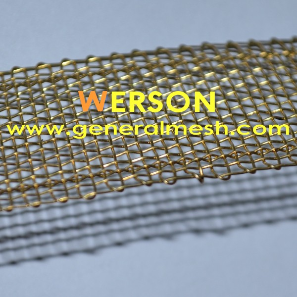 Mesh brass wire with selvage werson