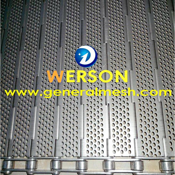 Stainless steel plate link conveyors